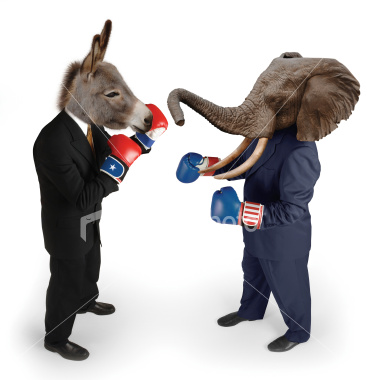 Republican Democrat Fight