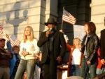 "Kay Rivoli, Lloyd Marcus, Diana Nagy sing ""Proud to be an American"""