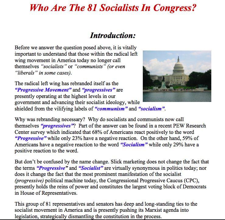 socialists in congress