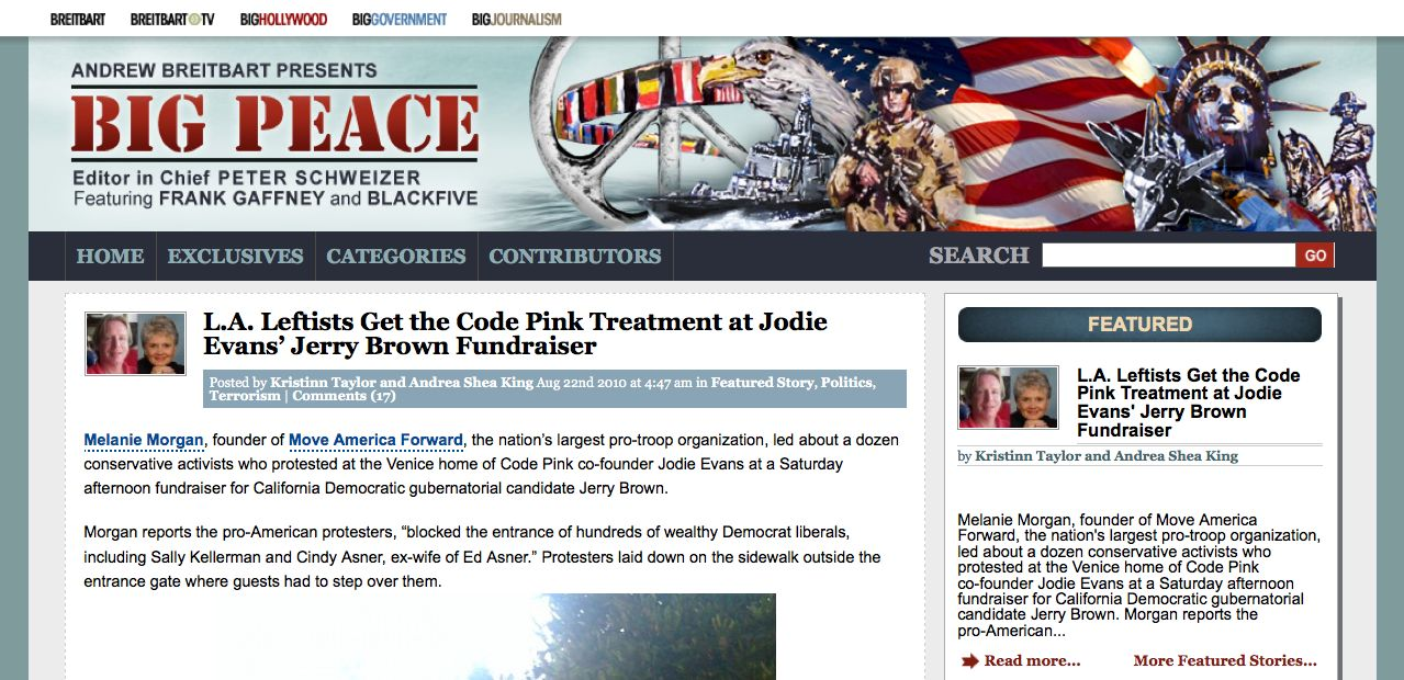 Mama Grizzly Melanie Morgan Gives Code Pink Dose Of Own