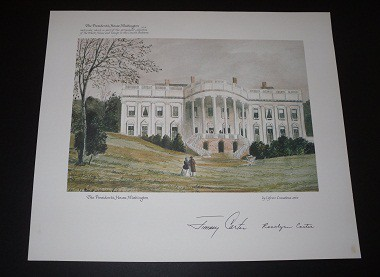 Sketch of 1860 White House