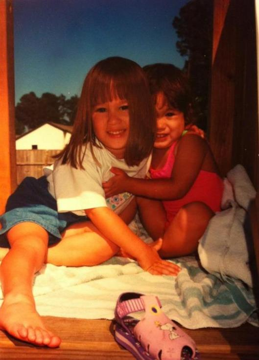 THEN:  Olivia and her little sister Sophia