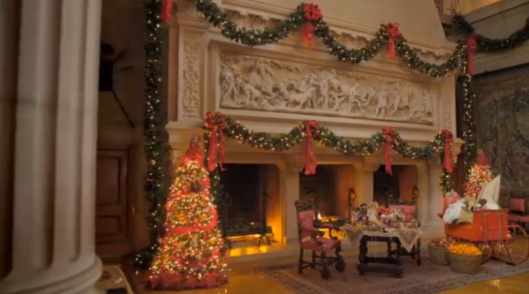 Decorated for Christmas. The Biltmore House. (Photo by Biltmore House)