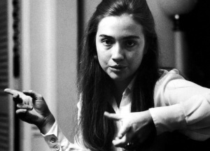 Class leader Hillary Rodham of Wellesley College t