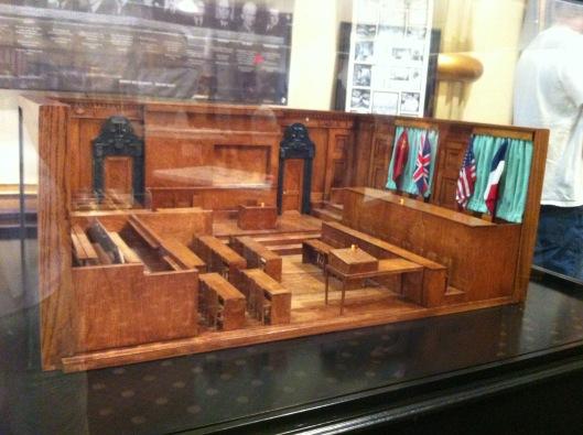 Nuremberg Trial courtroom