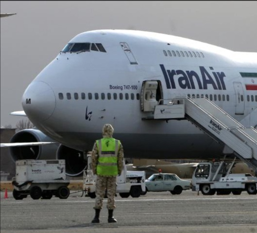 A Boeing 747 flown by Iran Air at Mehrabad Airport in Tehran. (Behrouz Mehri/AFP/Getty)