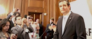 """Republican Sen. Ted Cruz was greeted with a rock star-like ovation at Americans for Prosperity's """"Defending the American Dream"""" summit in Orlando, Sept. 2013 Photo: Dailycaller.com"""